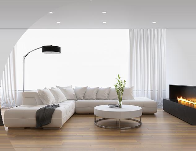 Фоновое изображение комнаты с натяжным потолком
